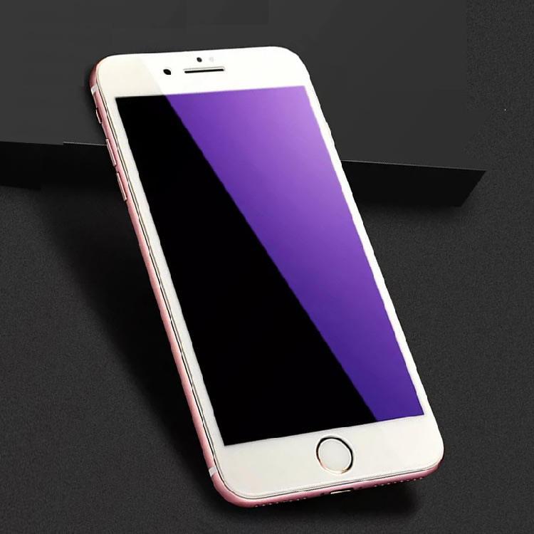 9 H de calidad para iphone 8 de la cubierta completa de vidrio blanco protectora del teléfono celular de la película