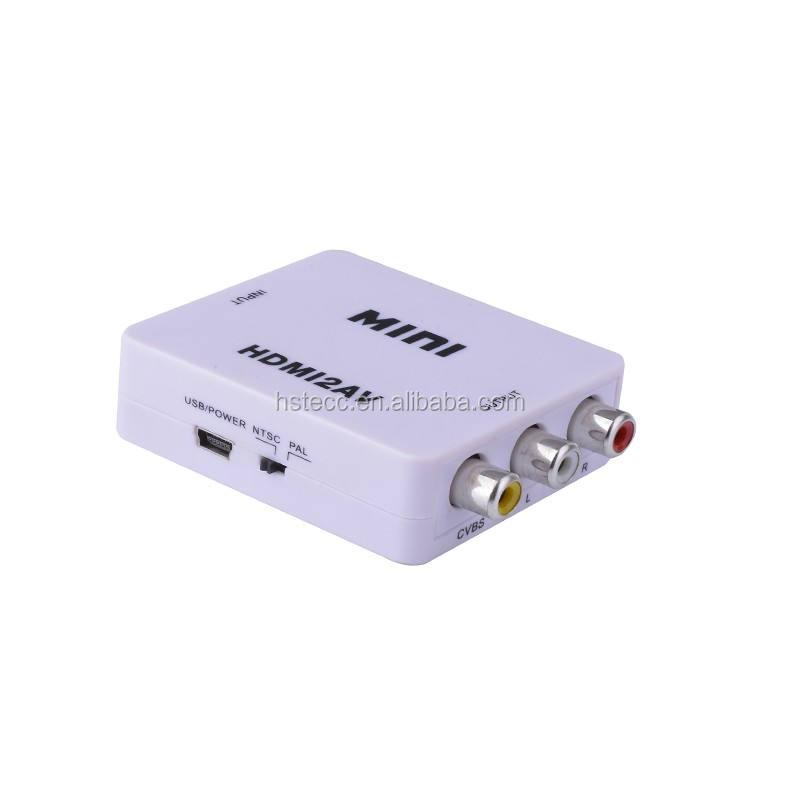 1080 p kích thước Nhỏ HDMI để AV CVBS/AV chuyển đổi cho TV PS3 PS4 VHS VCR DVD
