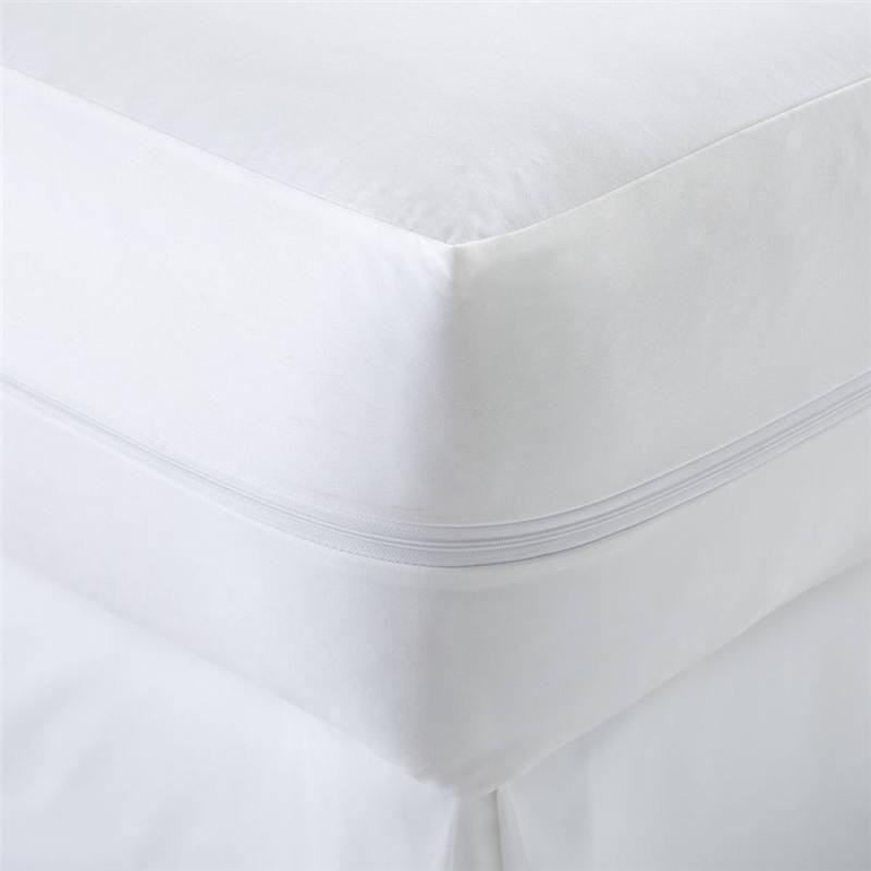 110gsm tecido 100% algodão de malha com TPU e 100% poliéster de malha saia impermeável protetor de colchão