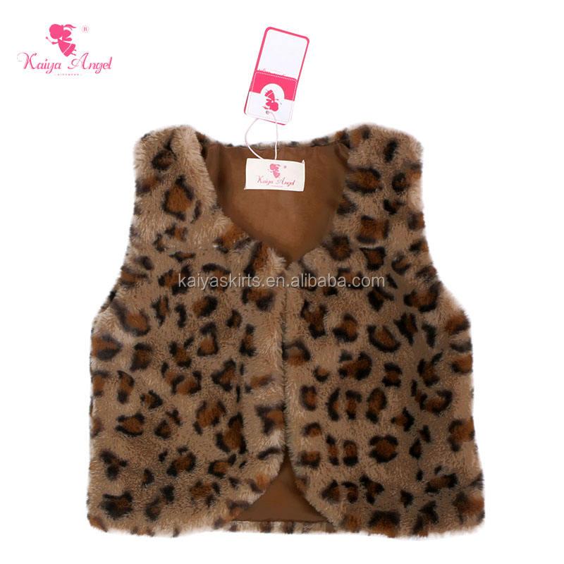 Новое поступление дети зимой леопарда из искусственного меха без рукавов жилет для девочек жилет из искусственного меха