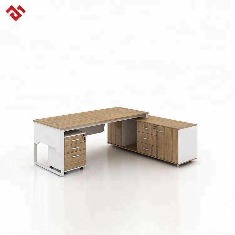 Design contemporain blanc moderne d'angle exécutive bureau secrétaire