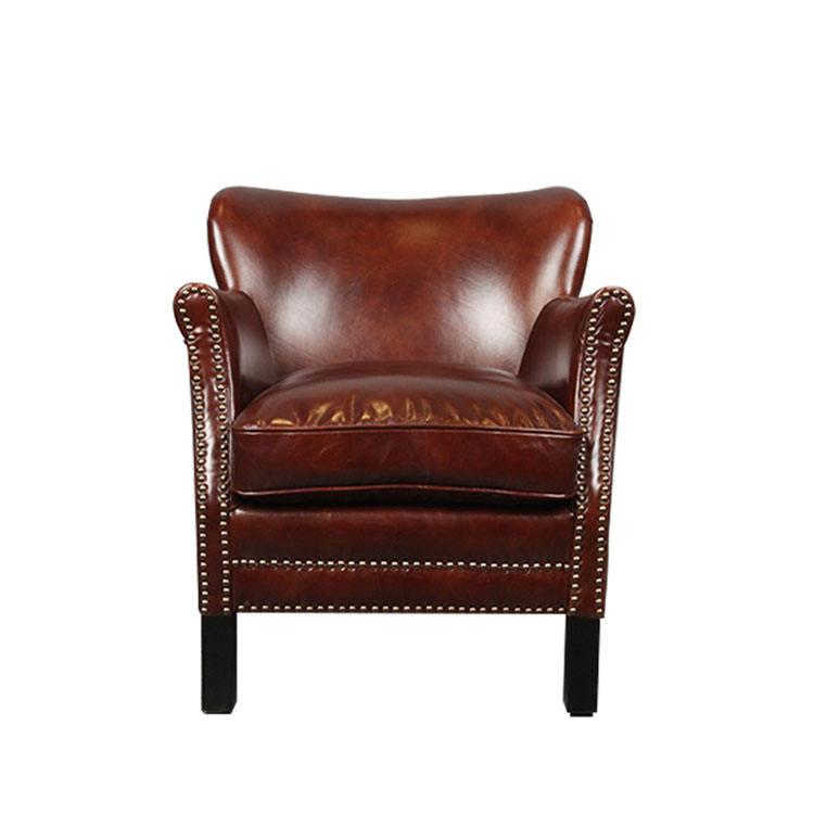<span class=keywords><strong>Коричневый</strong></span> Одноместный большой кресло для сидения/Королевская Античная кожа кресло