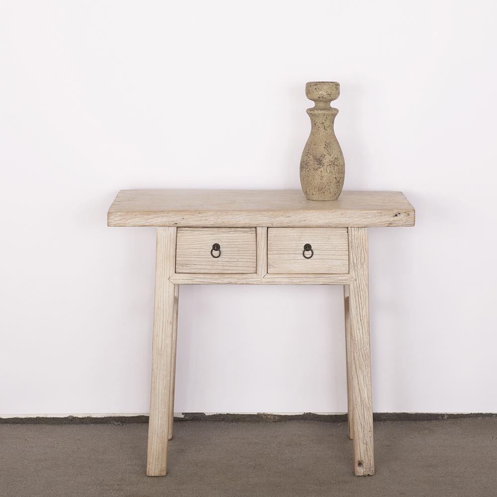 Une table avec deux tiroirs pour antique meubles en bois massif