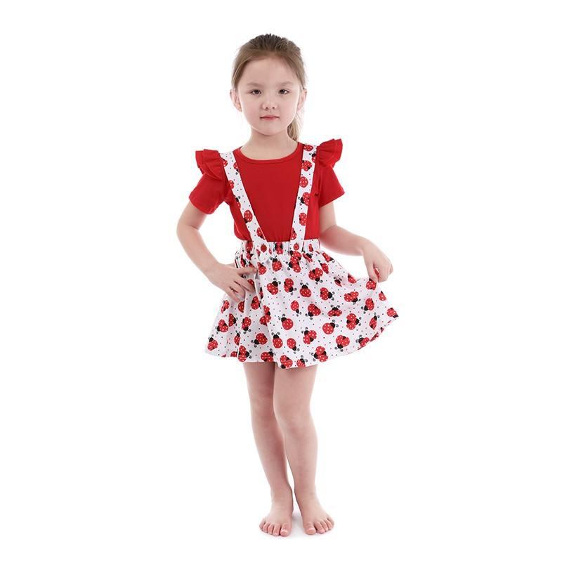 Оптовая продажа; летняя детская одежда; комплекты для маленьких девочек с подтяжками