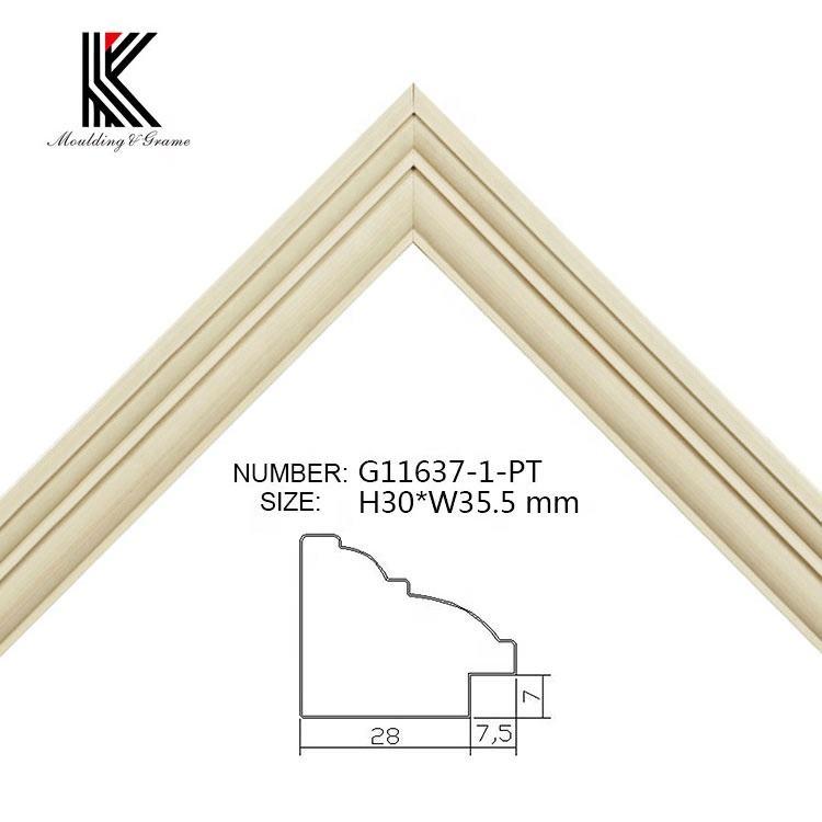 2018 popular 싼 pine wood <span class=keywords><strong>골동품</strong></span> 장식 석고 picture frame 몰딩