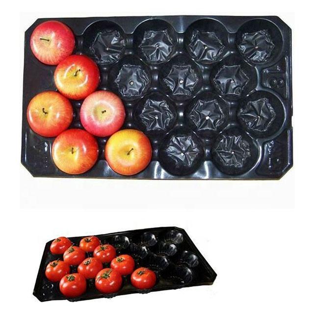 Fruits compartiment <span class=keywords><strong>d</strong></span>'emballage <span class=keywords><strong>blister</strong></span> perforé trous plateau en qualité alimentaire
