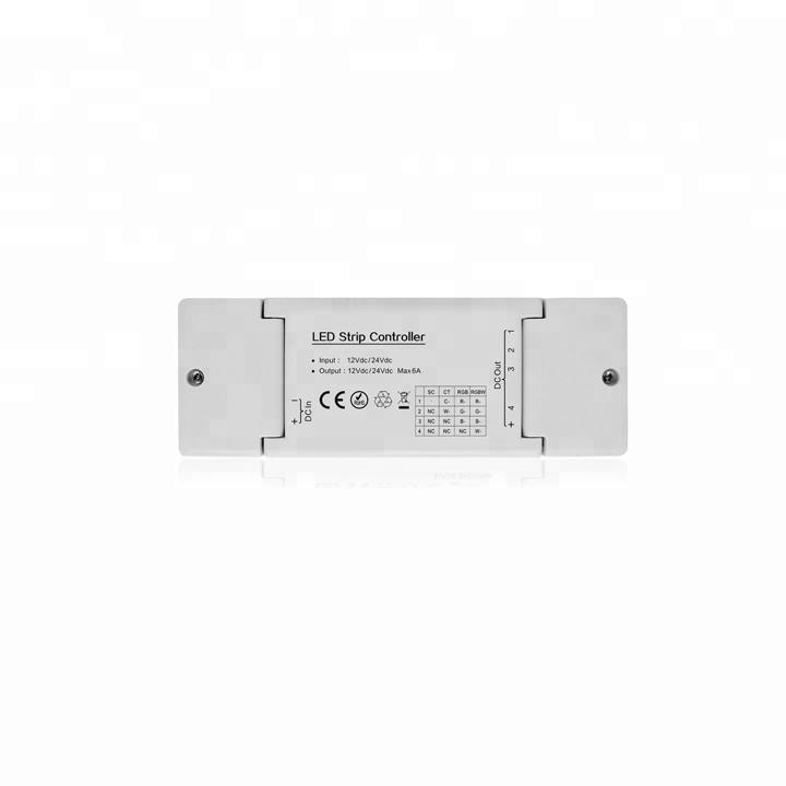 Nouveau 12 v 24 v intelligent 2.4g wifi zigbee light link zll rvb rgbw LED contrôleur de bande