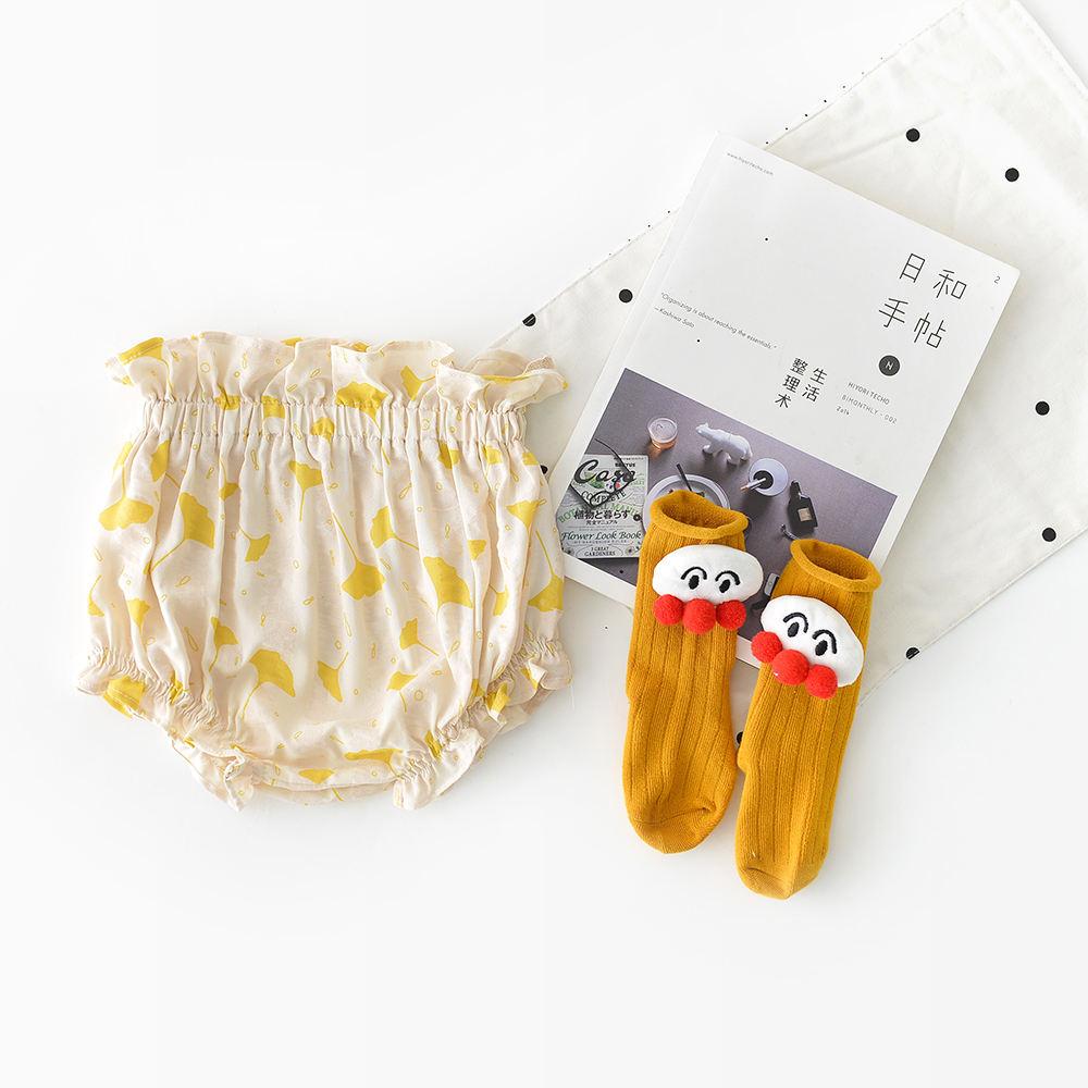 Дешевые цены оптовые экологически чистые льняные шорты с оборками для маленьких девочек