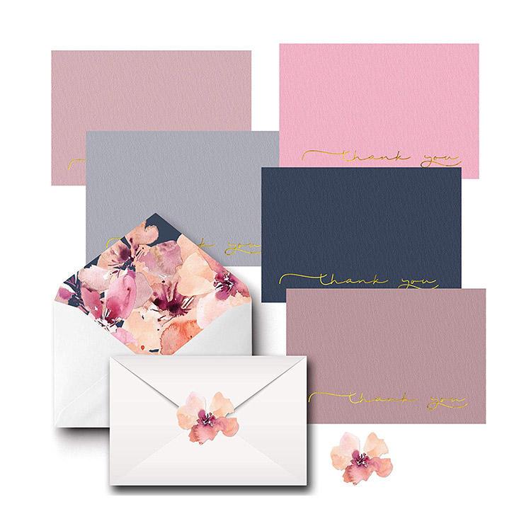 Ensembles Sur Papier De Lin, Décoratif Enveloppes Et Correspondant Anniversaires Autocollants & Carte De Mariage Conception