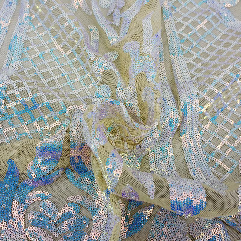Bella Attaccatura del Iridescente Produttori Colorato Custommade Tessuto Paillettes
