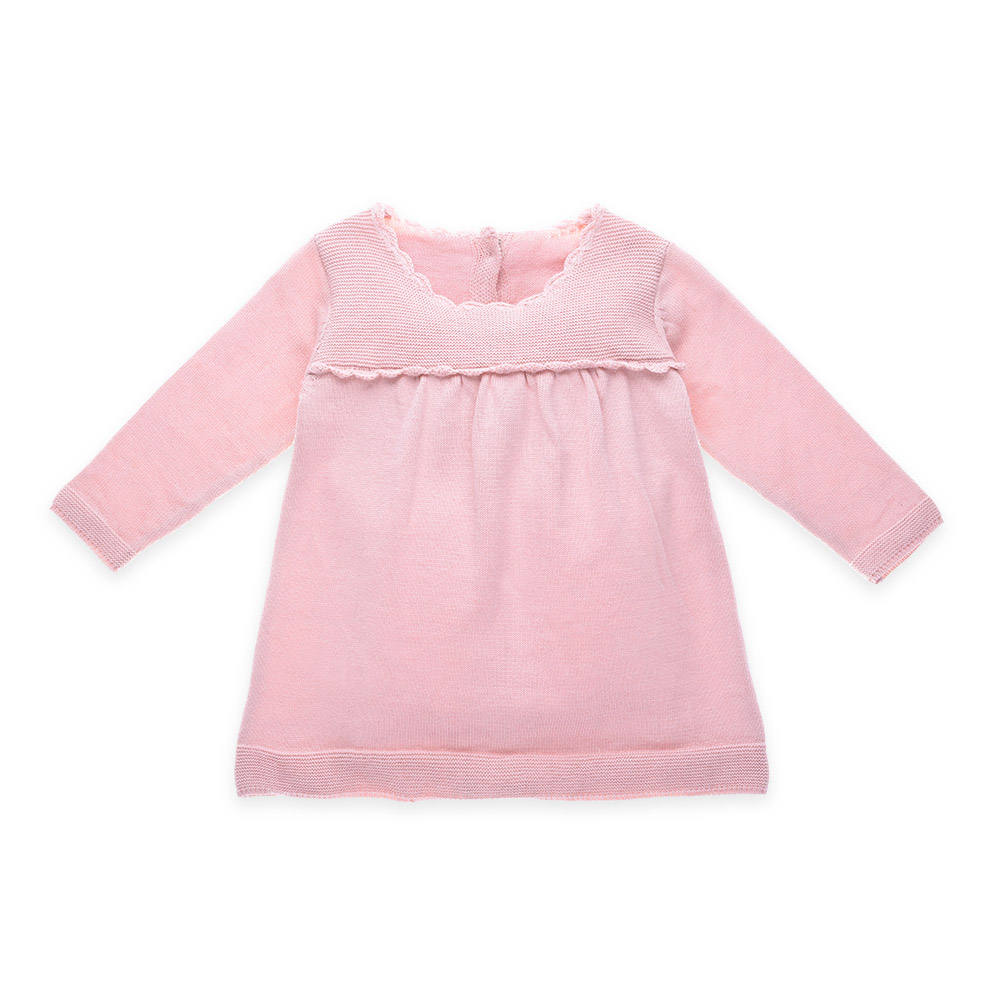 Пользовательские розовый зимний свитер платье конструкции для маленьких девочек оптовая продажа
