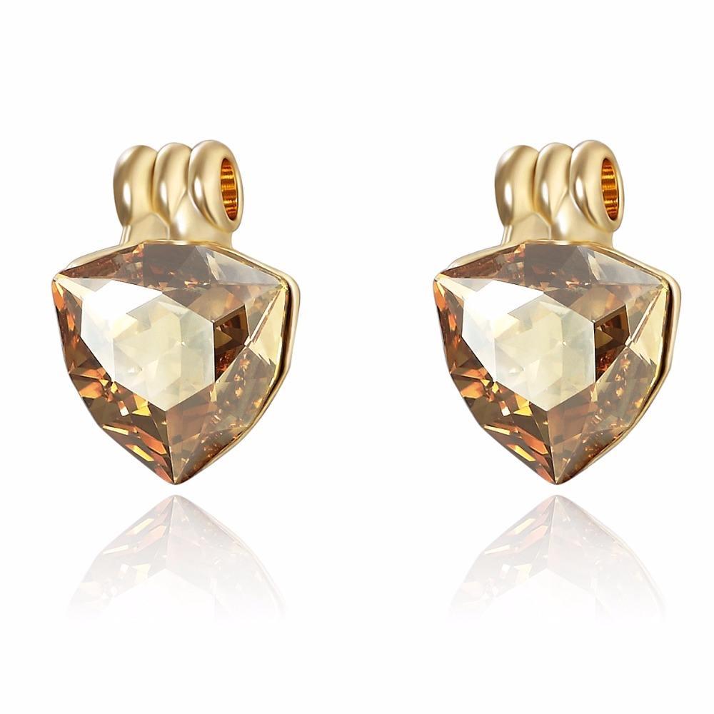 Joyería de neoglory 18 K oro cristal pendiente de coco