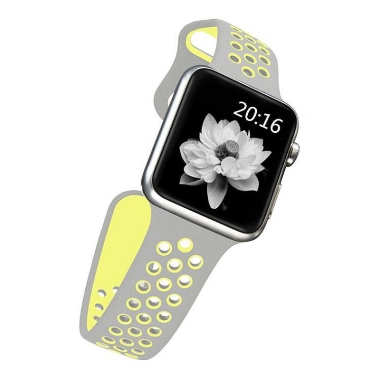Için iWatch4 <span class=keywords><strong>Nike</strong></span> + Spor ve Baskı, Yumuşak Silikon Spor Bilek Bandı Döngü Yedek Kayış Bilezik Apple iWatch için