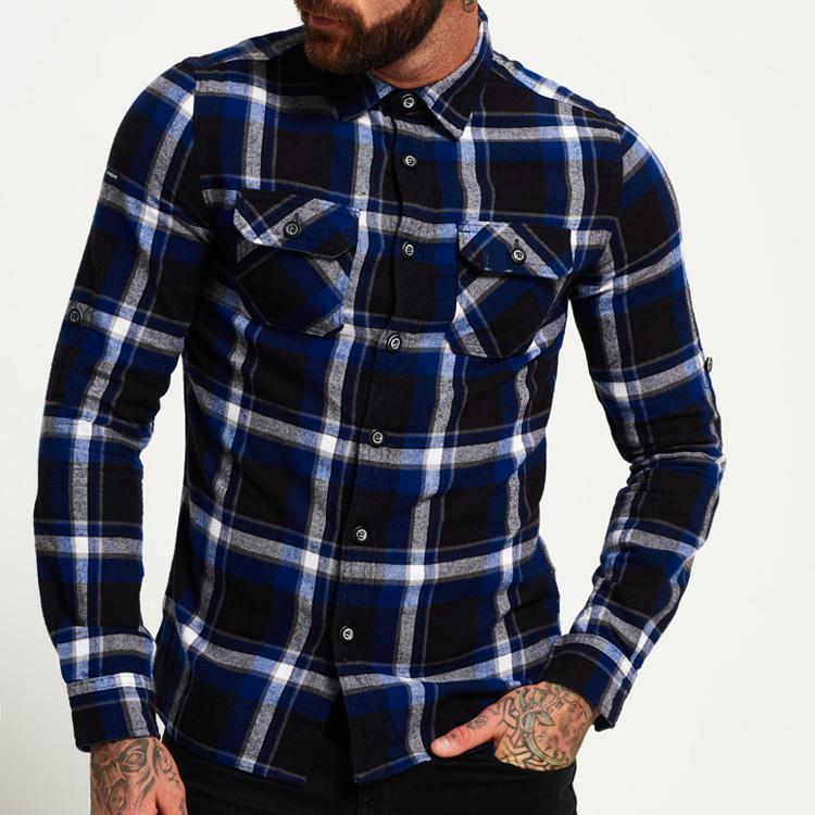 Лидер продаж Высокое качество пользовательские повседневные хлопковые мужские рубашки