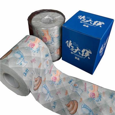 China fabricación de pulpa de madera de la Virgen rollo de papel higiénico impreso divertido patrón papel higiénico