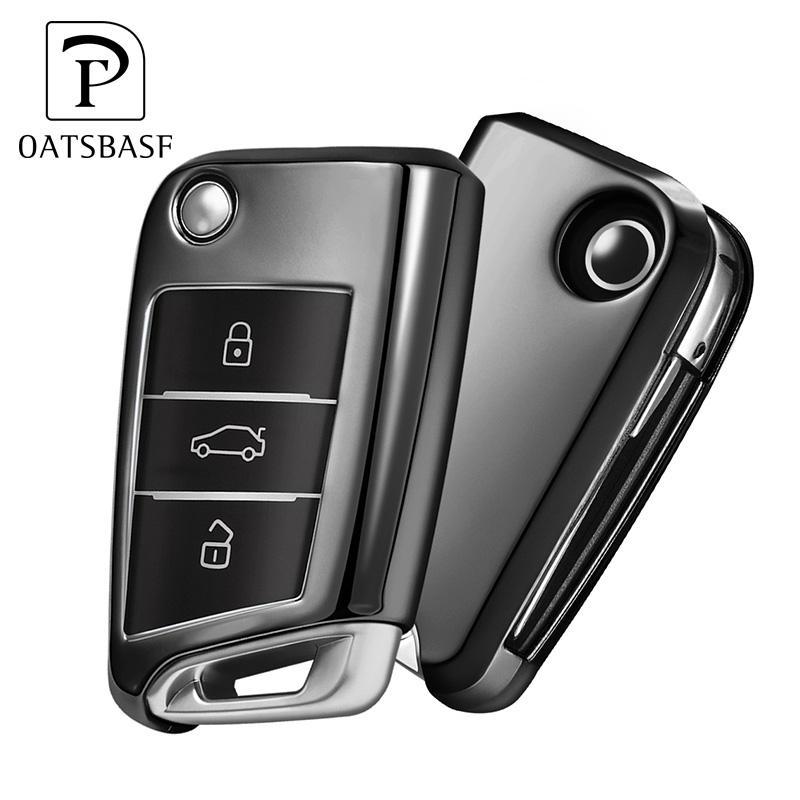 2019 Горячая продажа гальванические мягкие ТПУ дистанционного ключа автомобиля защиты чехлы Чехол для Volkswagen гольф
