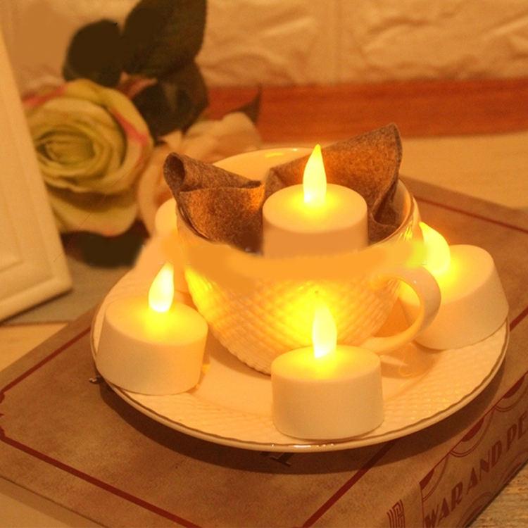 Pared de la Iglesia Beaty decoración sin llama LED Mini luz de la vela por la noche romántica