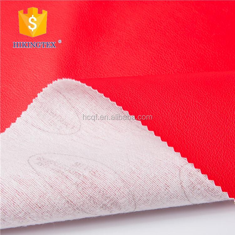 Reunindo 100% poliuretano vermelho tecido de <span class=keywords><strong>couro</strong></span> falso