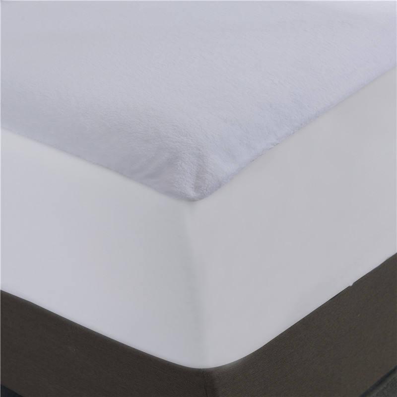 195gsm 70% bambu 30% algodão tecido terry com TPU e 100% poliéster saia terry impermeável protetor de colchão