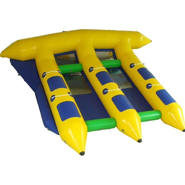 Коммерческая надувная летающая рыба банан лодка водные виды спорта