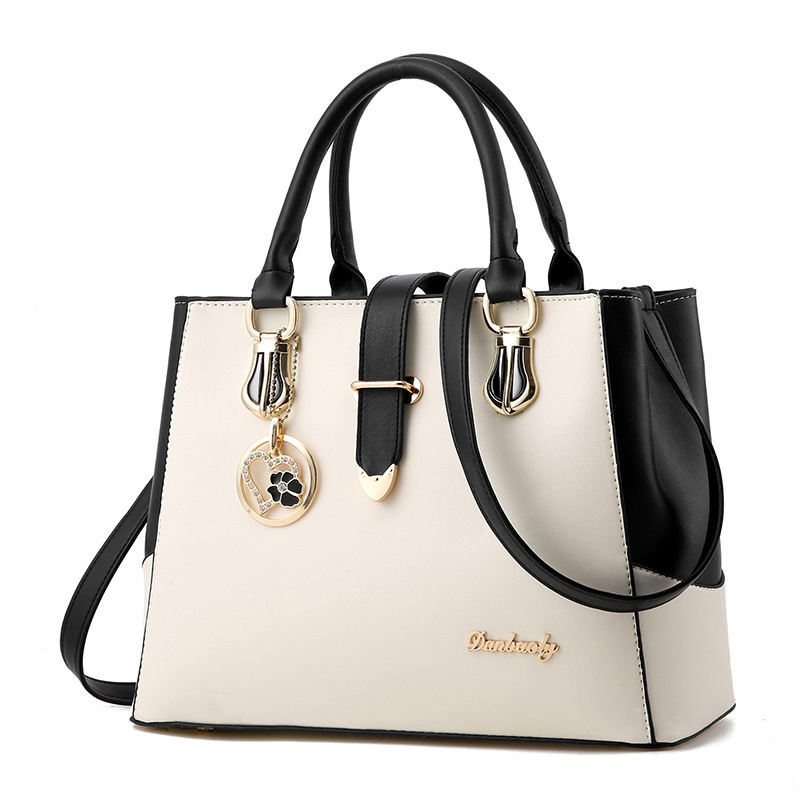 Contract Color Large Elegance Luxury Handbags For Women Soft PU Bag