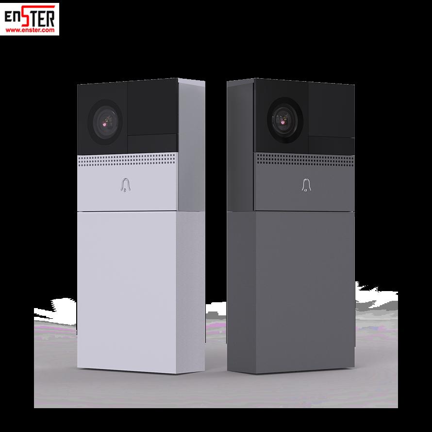 Étanche bouton de déclenchement vidéo sonnette 2 Double flux SD carte Interphone Porte Téléphone