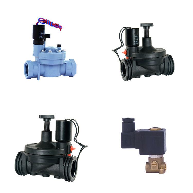 1 1,5 2 Zoll 12 12V 24V 24Volt 24 220 <span class=keywords><strong>Volt</strong></span> einstellbarer Durchfluss Kunststoff-PVC-Bewässerungs-Wassermagnetventil, elektromagnetisches Ventil