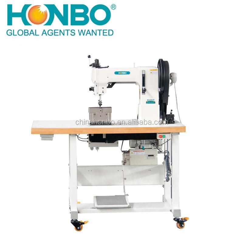 HB-204-370-2Ldouble agulhas ponto de sela braço longo cama post máquina de costura