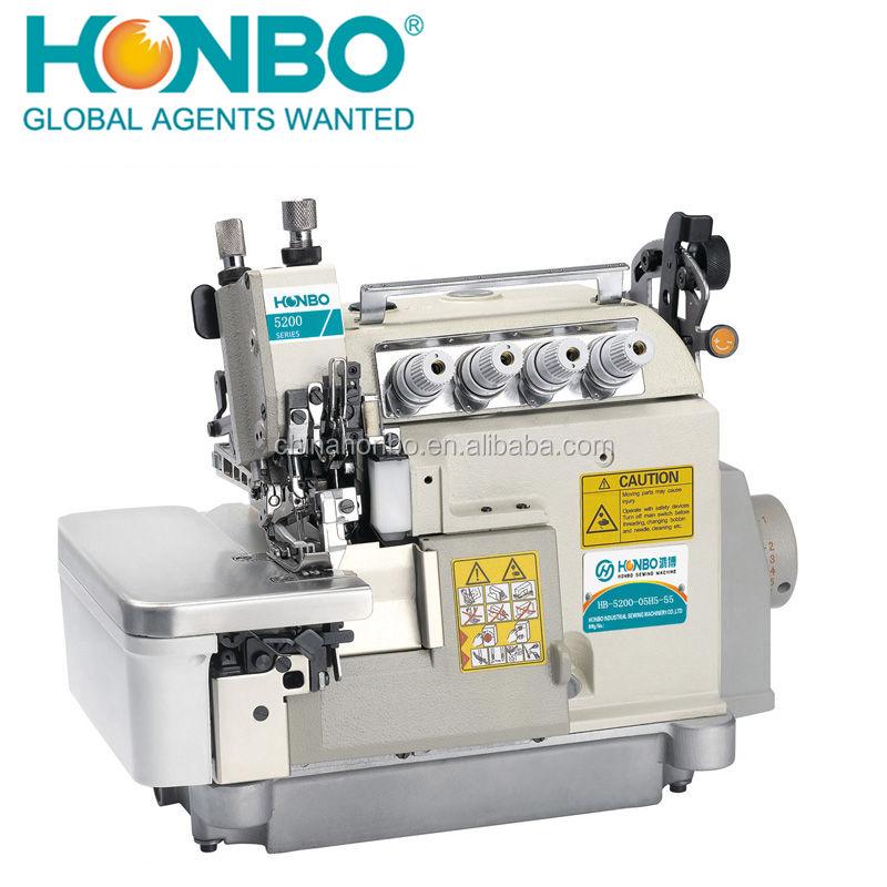 HB-5200-05H5-55 düz yatak kalın malzeme 2 İğneler endüstriyel iç çamaşı<span class=keywords><strong>r</strong></span>ı 5 iplik overlok <span class=keywords><strong>dikiş</strong></span> makinesi