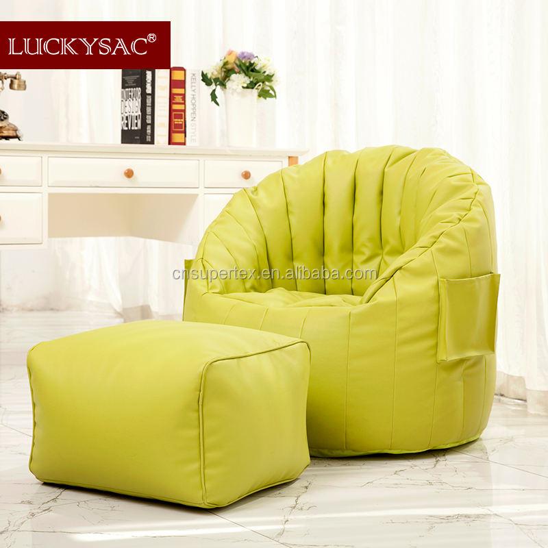 Neues Design Rosa mit weißen Punkten Pumpkin Bean Bag Sessel Lehnstuhl / Sitz Puff