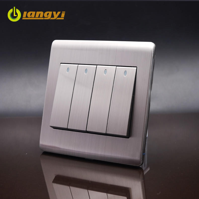 China fabricante de poupança de energia 4 Gang Push Light Switch