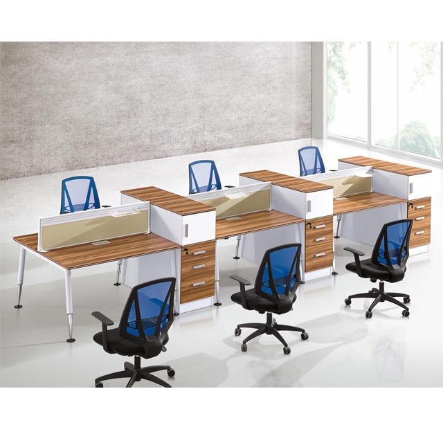 Fábrica personalizar modular ergonómico 6 asiento Personal Workstation para Nueva Oficina Decoración