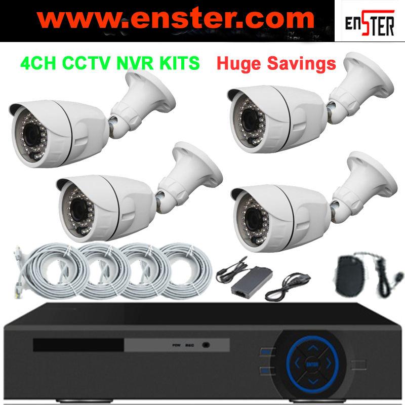 Enster H.264 HD 720 P Kit DE <span class=keywords><strong>Caméra</strong></span> DE VIDÉOSURVEILLANCE avec 4 pcs 720 P IP <span class=keywords><strong>Caméra</strong></span>