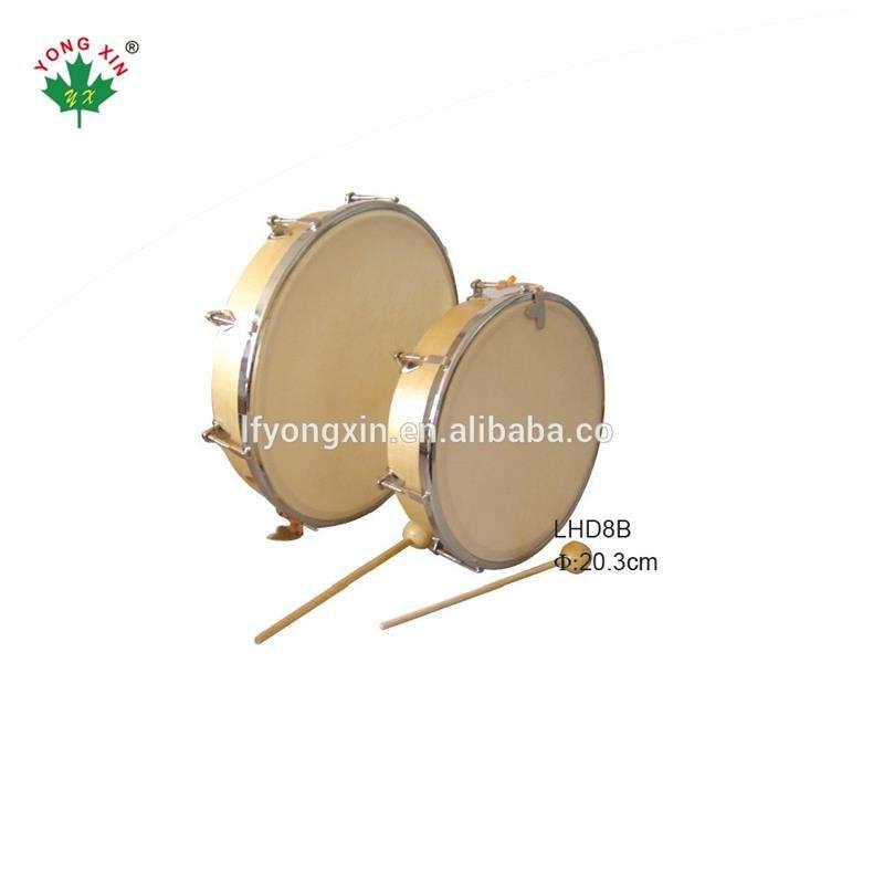 2018 de 8 10 pulgadas a instrumento de madera Natural de la piel de la cabeza ajustable de tambor de mano para los niños