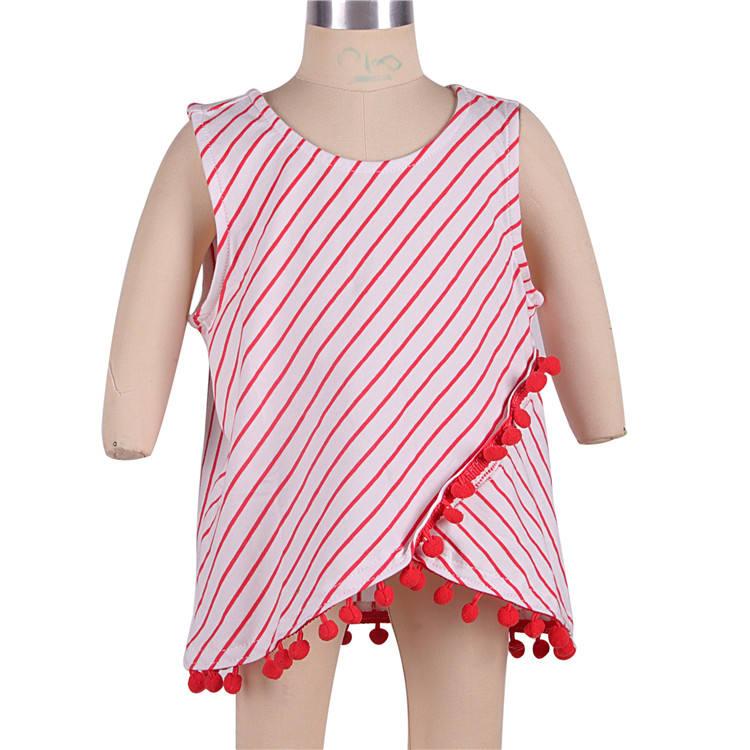 Лидер продаж дешевые пикантные модные красные детские трикотажные хлопок путешествия жилет для девочек