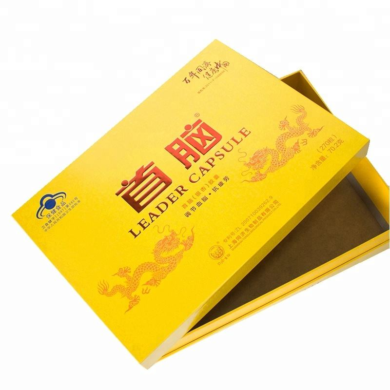 Заказ высокого качества дешевые продукты здравоохранения бумага упаковочная коробка с крышками
