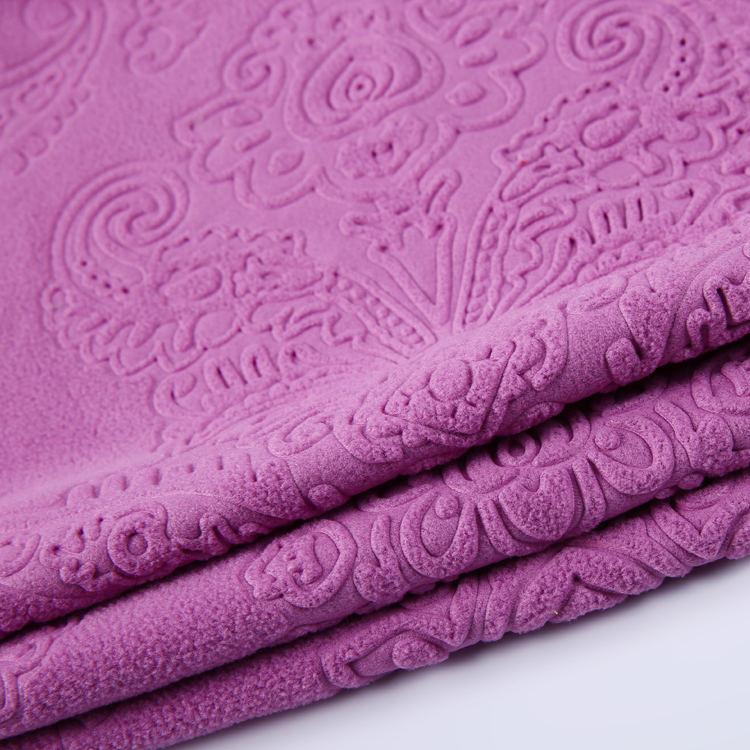 Ev tekstili 3d kabartma kumaş ceket polar kumaş faisalabad