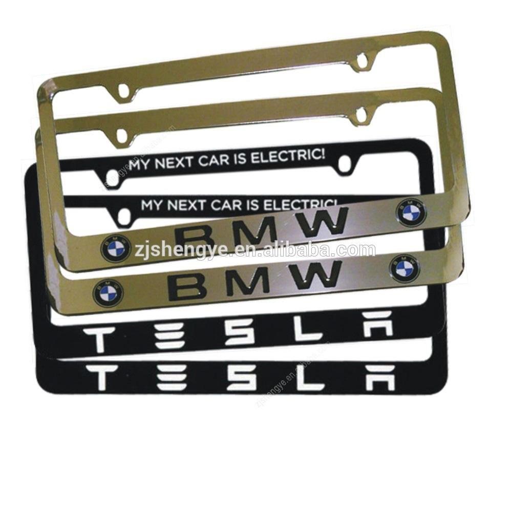 de aleación ajustable personalizado decorativo coche número de la licencia de marco de la placa para la exportación