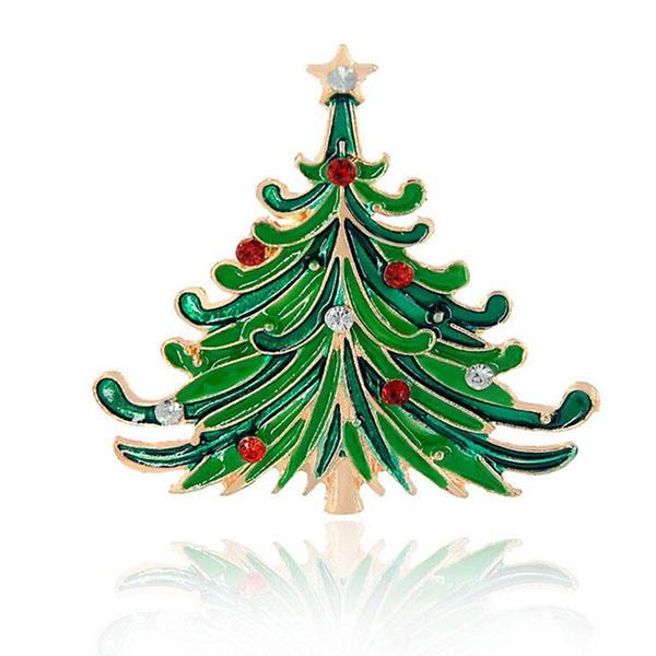 Новогодняя елка эмаль отворот безопасности pin необычная брошь/Брошь pin