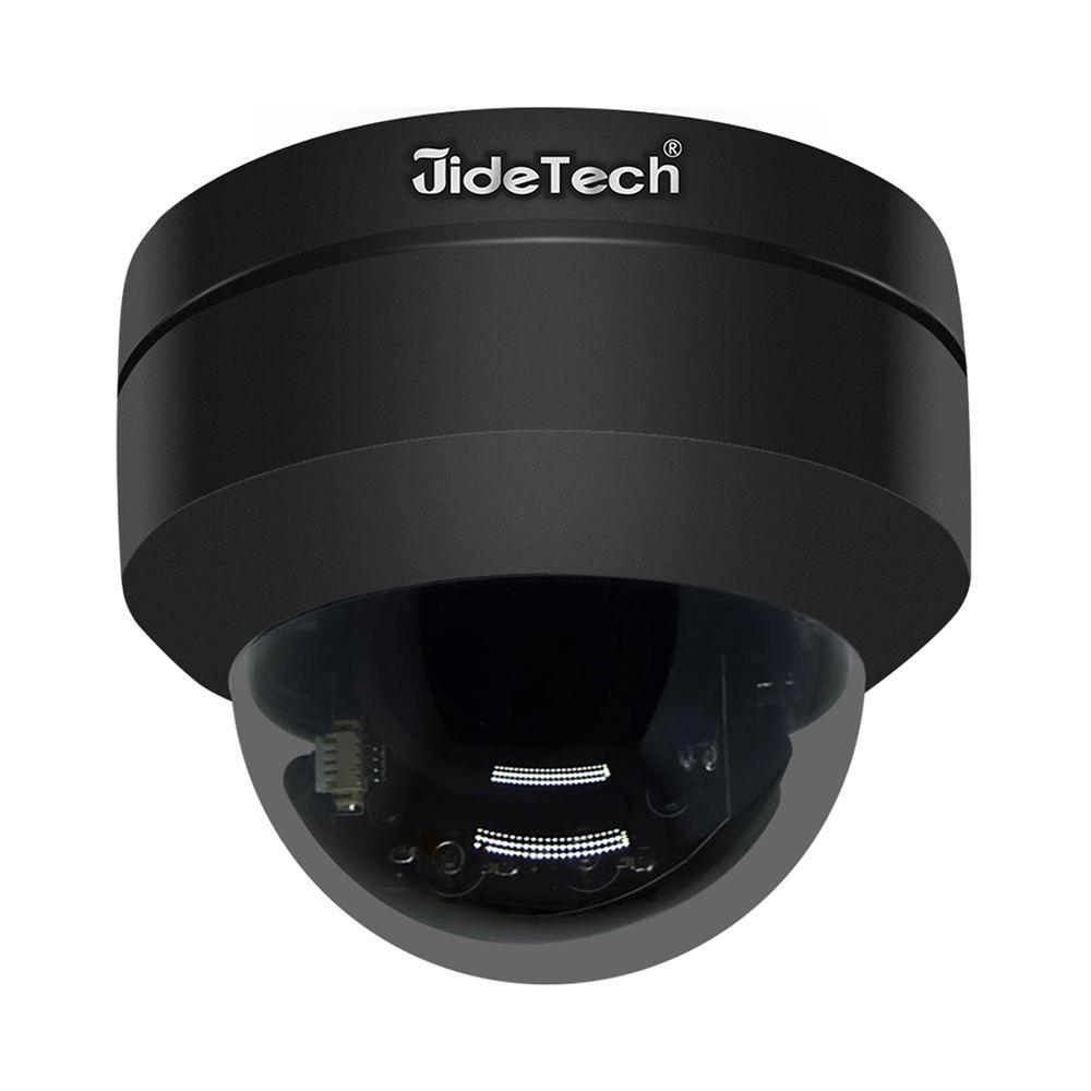 JideTech 5.0MP de Metal negro domo PTZ 360 grado IP cámara de visión nocturna POE Cámara al aire libre