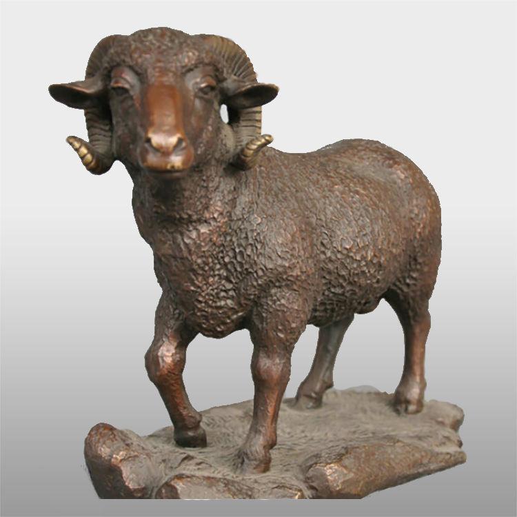 Vida tamanho estátua de bronze escultura <span class=keywords><strong>antílope</strong></span> carneiros selvagens