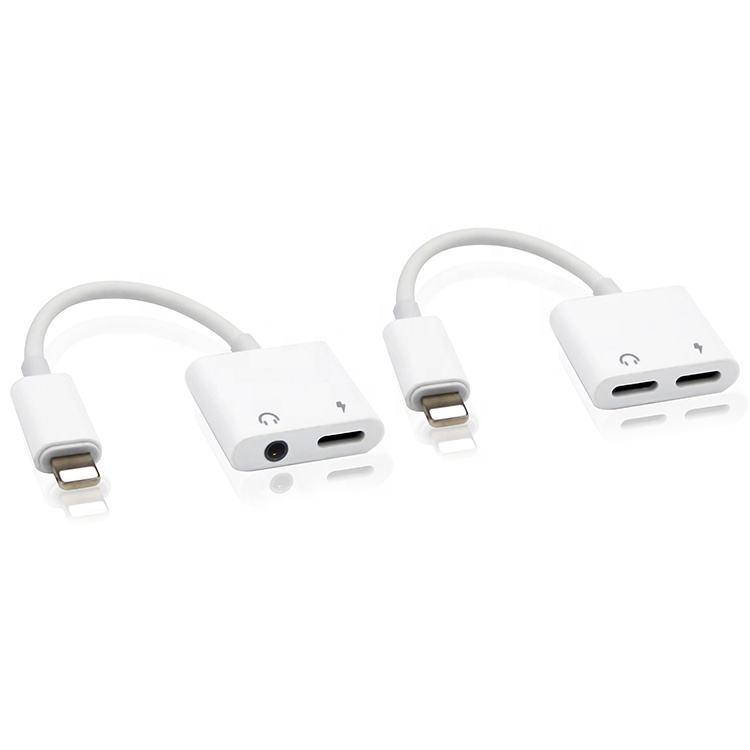 Çok Amaçlı USB kablosu 2 In 1 Işık Ning Adaptörü Iphone kablo ayırıcı Çift