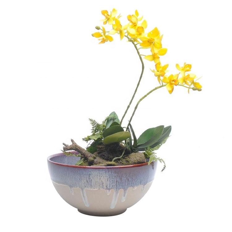 Nuevo diseño de logotipo personalizado Jardín Pequeño macetas de cerámica pote de flor