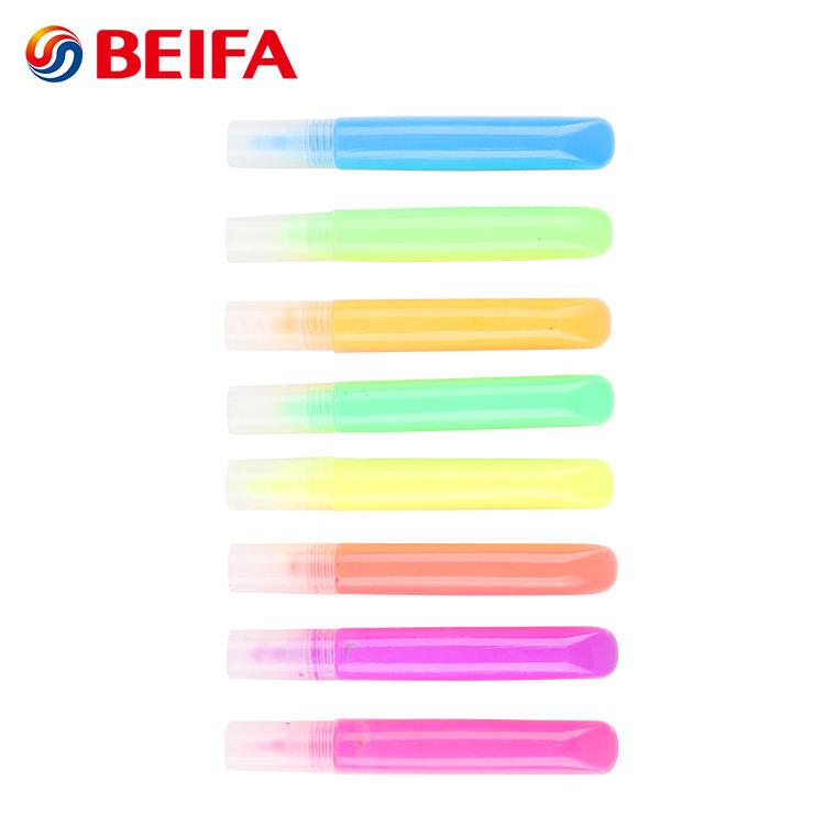Beifa Marke BG0002 Beste Verkauf 8 Farben Schnell Trocken 3d Geschwollene Gewebe Farbe Stifte