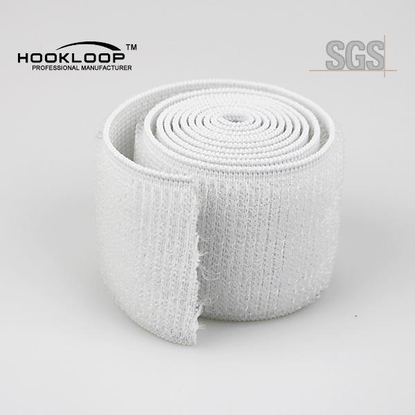 Bianco elastico morbido autoadesivo <span class=keywords><strong>nastro</strong></span> <span class=keywords><strong>velcro</strong></span>