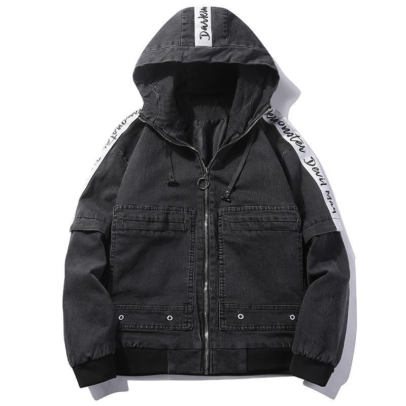 Весенние куртки для мужчин ветровка Осень Свободные Повседневная куртка мужской пальто для будущих мам на молнии Костюм Уличная