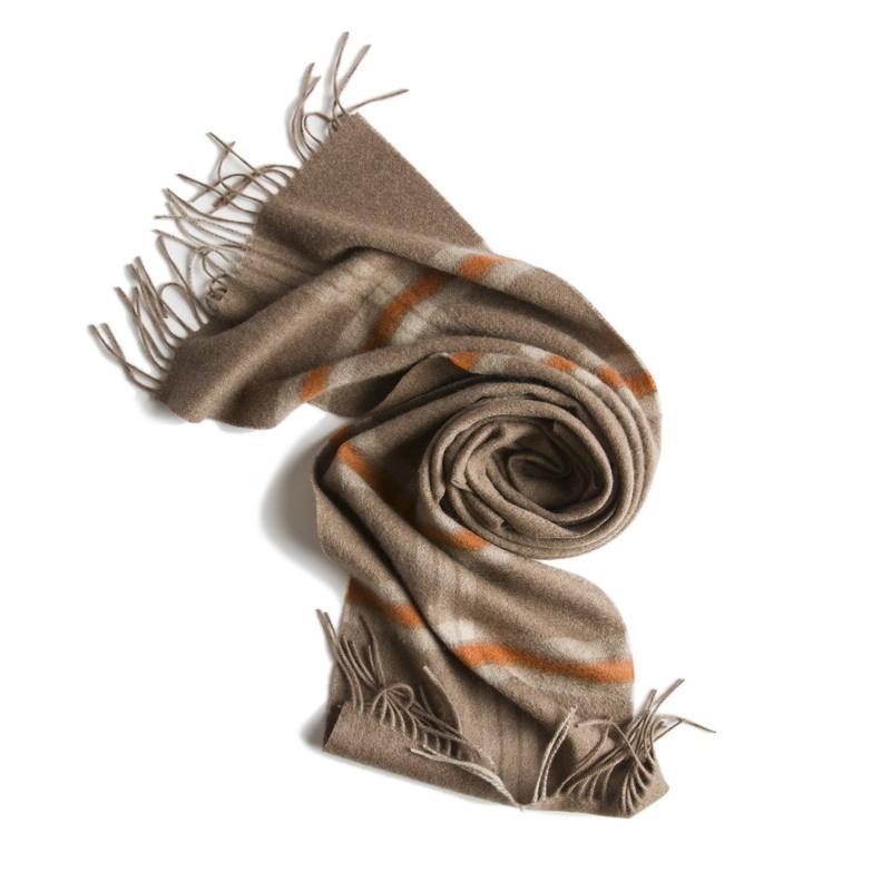 El FMI Mongolia Interior otoño invierno cálido gruesa de Cachemira de los hombres bufanda tartán