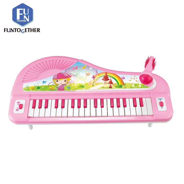 As crianças aprendem brinquedos conjunto de instrumentos musicais de teclado eletrônico