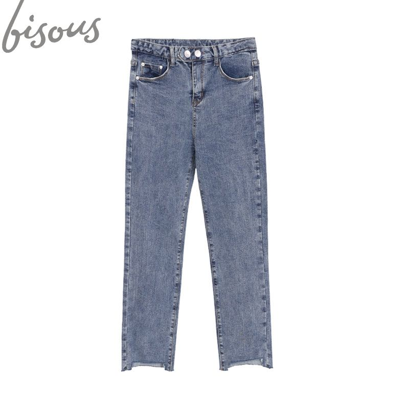 Nuevo diseño y casual mujeres pantalones de mezclilla con materias primas fringe de ASOS