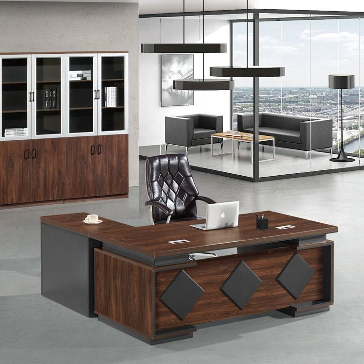 Factory supply discount price l shaped office executive table